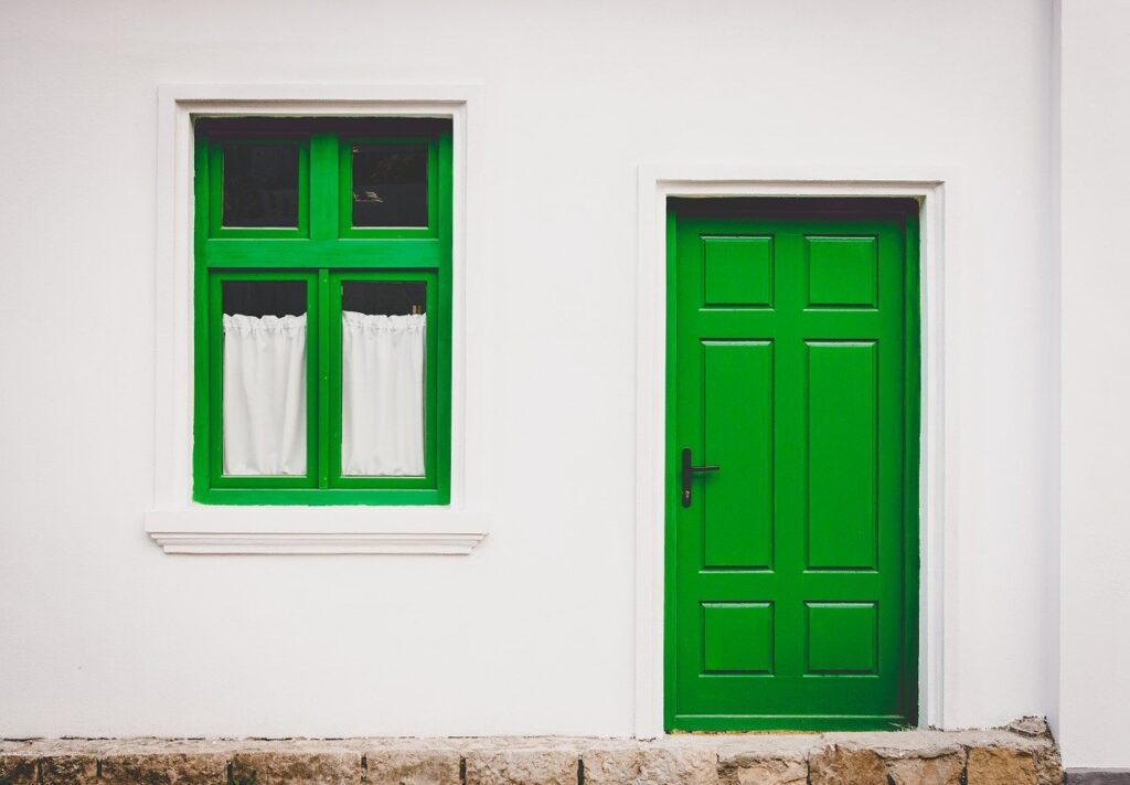 Greener Homes - house and front, door